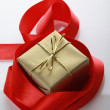 Royalty-Free Stock Photo: Gift golden box
