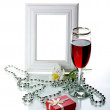 Frame, goblet and orchid — Stock Photo #1456105