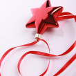 Red star and ribbon — Stock Photo
