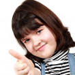 Stock Photo: The girl shows a thumb upwards