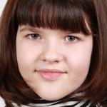 Portrait of the brunette girl — Stock Photo
