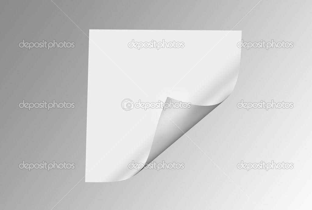 Folded paper isolated on the white — Stock Photo #1203782