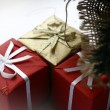 Stock Photo: Present boxes isolated