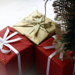 Present boxes isolated — Stock Photo