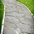 Garden stone path - Stock Photo
