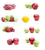 Collection of isolated fruits — Stock Photo