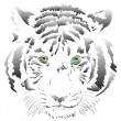 White tiger vector — Stock Photo