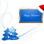 Christmas vector theme — Stock Photo