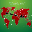 Stock Photo: Christmas map vector