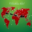 Royalty-Free Stock Photo: Christmas map vector