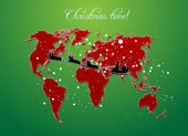 Christmas map vector — Stock Photo