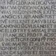 Royalty-Free Stock Photo: Medieval latin catholic inscription