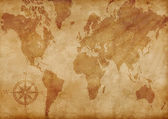 Computer generated old map of the world — Stock Photo