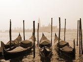Sepia image of Venice — Stock Photo