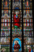 Stained-glass window in St.Vitus,Prague — Stock Photo