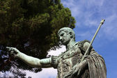 Emperor Trajan sculpture in Rome,Italy — Stock Photo