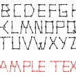 Royalty-Free Stock Векторное изображение: Vector alphabet set made from bones