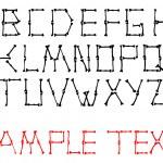 Vector alphabet set made from bones — Stock Vector #1194594