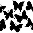 Flying butterflies vector illustration - Stock Vector