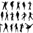 Dancing in action vector - Stockvectorbeeld