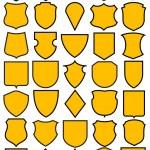 Set of different heraldic shields — Stock Vector