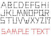 Vector alphabet set made from bones — Stock Vector