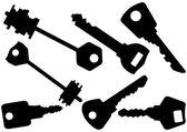 Set of keys vector illustration — Stock Vector