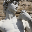David by Michelangelo in Florence,Italy — Stock Photo