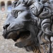 Old lion sculpture — Stock Photo #1207301
