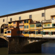 Medieval bridge Ponte Vecchio - Stock Photo