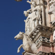 Architectural details of Siena duomo - Stock Photo