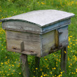 Stock Photo: Rural wooden bee hive