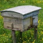 landelijke houten bee hive — Stockfoto