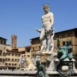 Statue of Neptune in Florence,Italy — Stock Photo