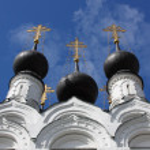 Russian traditonal medieval monastery — Stock Photo #1215492