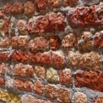 Eski kırık kırmızı tuğla dokusu — Stok fotoğraf #1216434