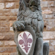 Old lion sculpture — Foto Stock