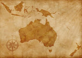 Australia old map illustration — Stock Photo