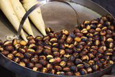 Roasted colorful chestnuts — Stock Photo
