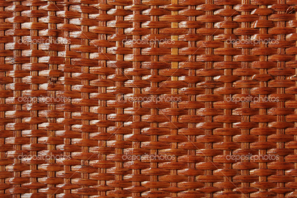 Abstract criss-cross wooden basket lacquered background texture — Stock Photo #1215431
