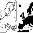 Map of Europe illustration — Imagens vectoriais em stock