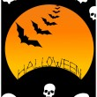 Halloween background illustration - Stock Vector