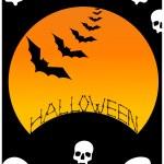 Halloween background illustration — Stock Vector