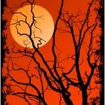 sagoma di rami di albero — Vettoriale Stock