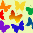 Colorful flying butterflies vector - Stock Vector