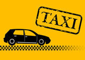 Taxi car illustration — 图库矢量图片