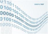 Vetor de ondas abstrato código binário — Vetorial Stock