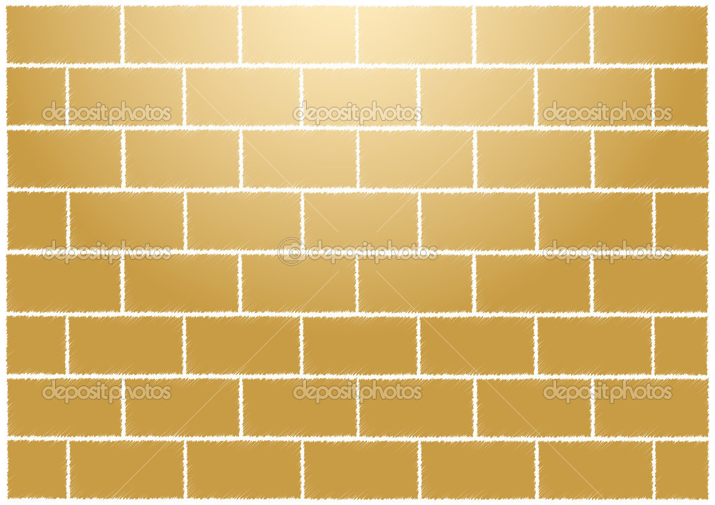 Abstract tan bricks wall vector illustration — Stock Vector #1218776