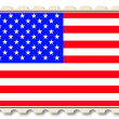 Royalty-Free Stock Photo: Post stamp with USA national flag