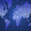 Puzzle world map — Stock Photo #1220317